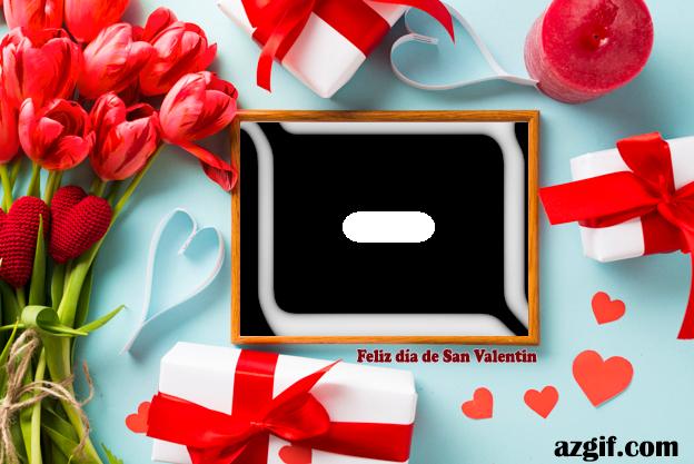 Marco y regalos de San Valentín foto gratis - Marco y regalos de San Valentín foto gratis