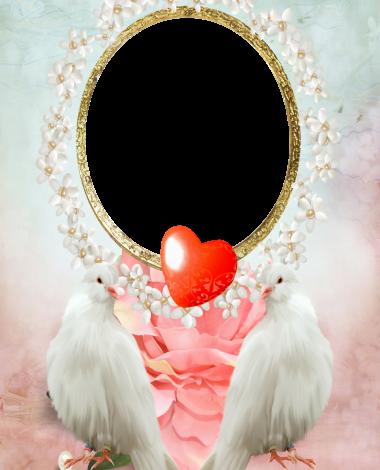 Romantic love birds love photo frame 380x470 - Romantic love birds love photo frame