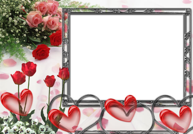 all red hearts romantic photo frame - all red hearts romantic photo frame
