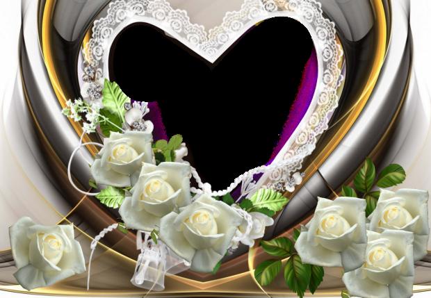 beauty heart romantic photo frame - beauty heart romantic photo frame