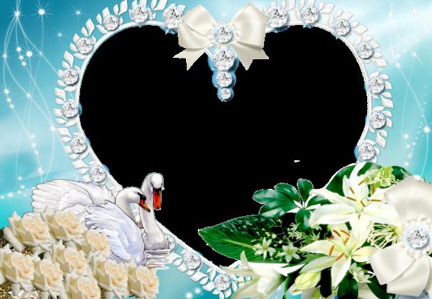 beauty white hearts romantic photo frame - beauty white hearts romantic photo frame