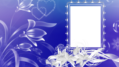 Photo of blue and magical love photo frame