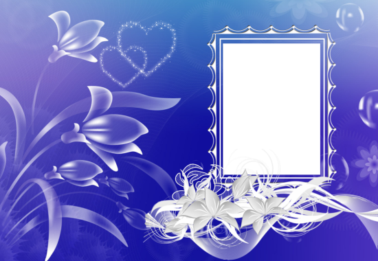 blue and magical love photo frame - blue and magical love photo frame
