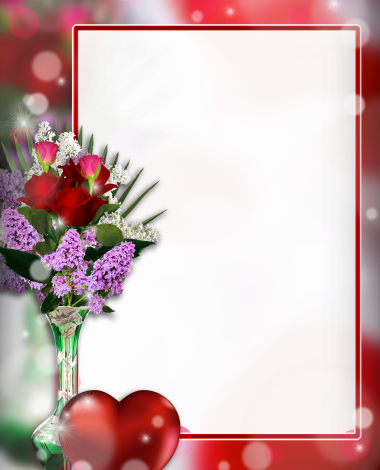 cute Bouquet of red roses love photo frame 380x470 - cute Bouquet of red roses love photo frame