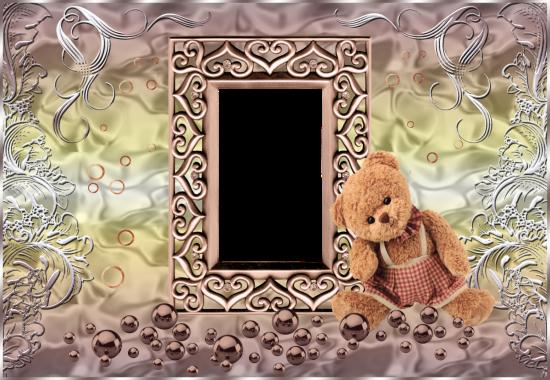 cute bear love photo frame - cute bear love photo frame