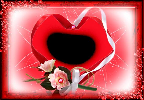 cute red love heart love photo frame - cute red love heart love photo frame
