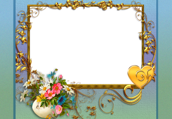 decorated colourful flower love photo frame - decorated colourful flower love photo frame