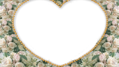 heart with white flowers romantic photo frame 390x220 - heart with white flowers romantic photo frame