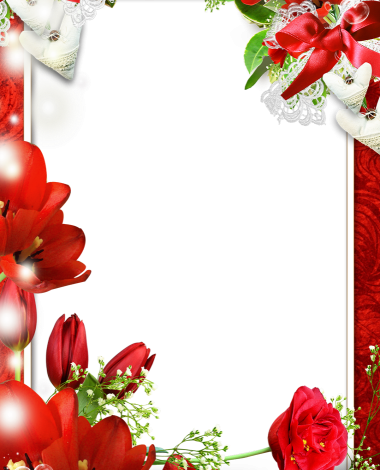 many red flowers love photo frame 380x470 - many red flowers love photo frame