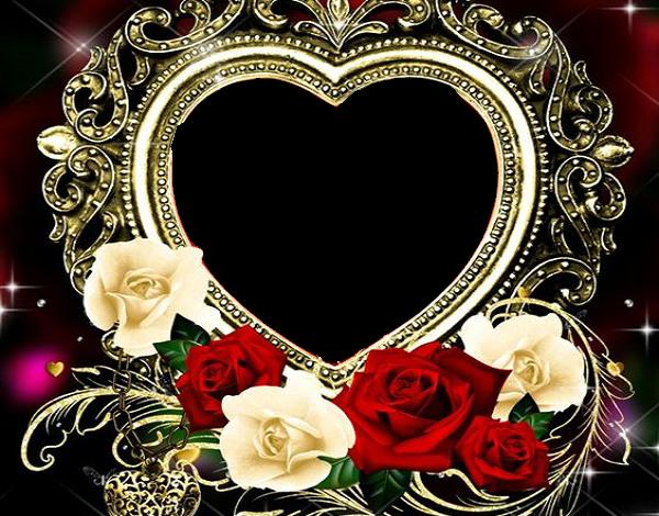 marco de corazón de oro 600x470 - Marco de corazón de oro