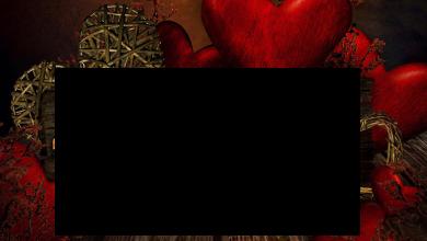 Photo of Marco de madera de corazones rojos