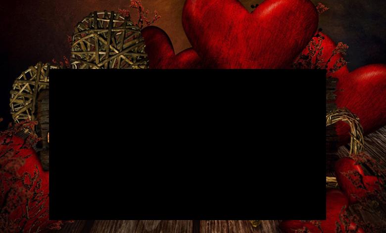 marco de madera de corazones rojos 780x470 - Marco de madera de corazones rojos