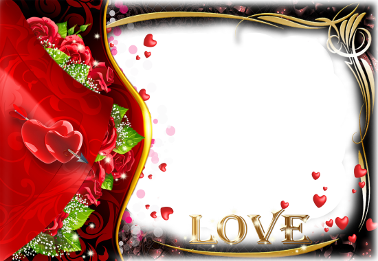red hearts with love photo frame - red hearts with love photo frame