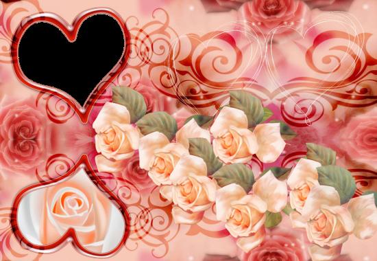 romantic roses love photo frame - romantic roses love photo frame