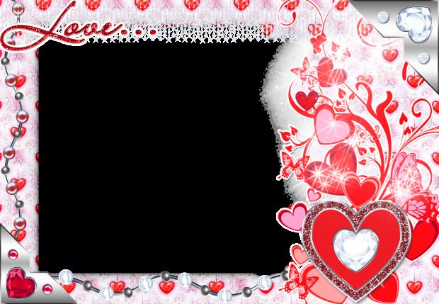 shining romance red romantic photo frame - shining romance red romantic photo frame