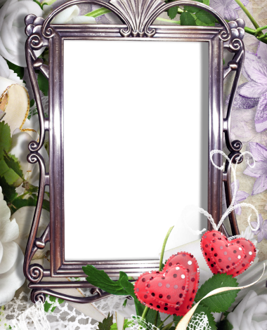 two romantic red hearts love photo frame 380x470 - two romantic red hearts love photo frame