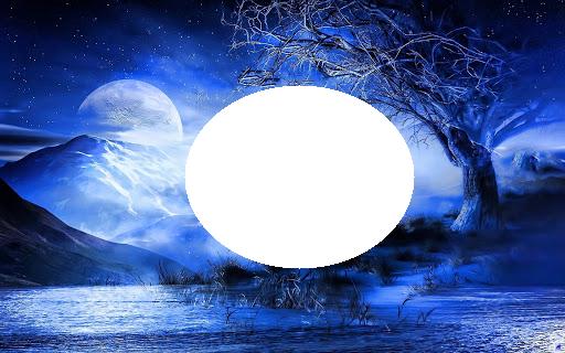 unnamed - Marco azul luna encantadora