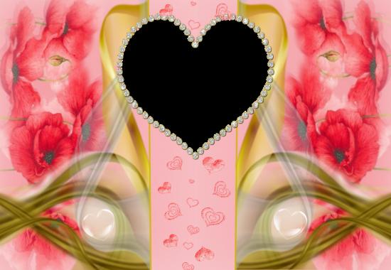 very romantic hearts love photo frame - very romantic hearts love photo frame