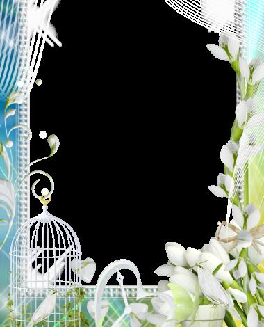white Jasmine love photo frame 380x470 - white Jasmine love photo frame