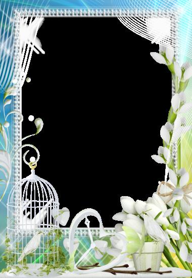 white Jasmine love photo frame - white Jasmine love photo frame