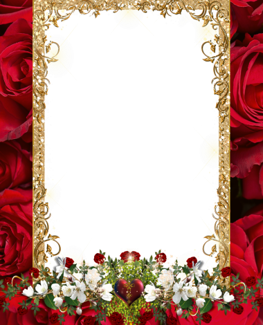 white and red flowers love photo frame 380x470 - white and red flowers love photo frame