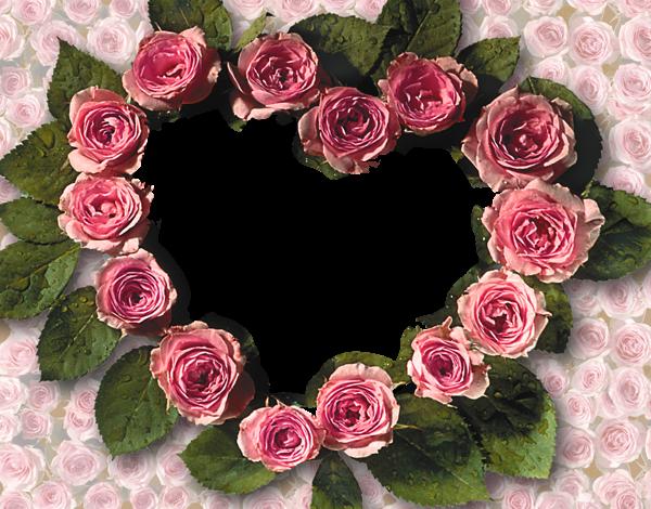 Corazones de rosas Marcos para Fotos 600x470 - Corazones de rosas Marcos para Fotos