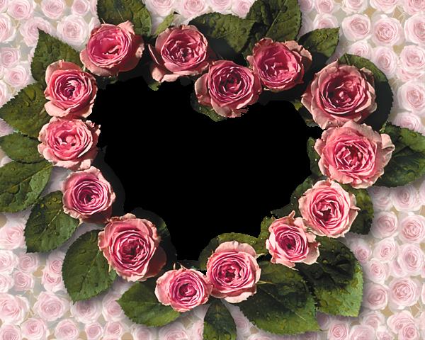 Corazones de rosas Marcos para Fotos - Corazones de rosas Marcos para Fotos