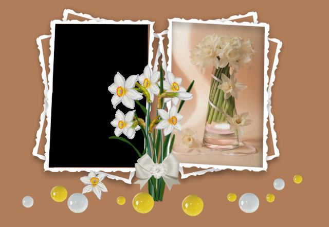 El marco de un ramo de flores. Marcos para Fotos - El marco de un ramo de flores. Marcos para Fotos