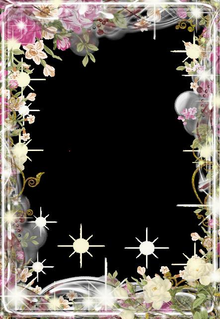 Marco de flores maravillosas Marcos para Fotos - Marco de flores maravillosas Marcos para Fotos