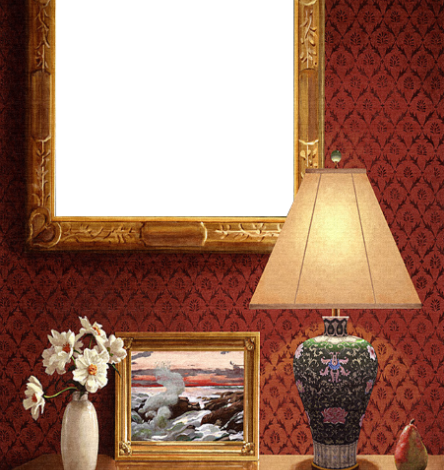majestuoso marco de fotos de pared roja clásica 444x470 - majestuoso marco de fotos de pared roja clásica
