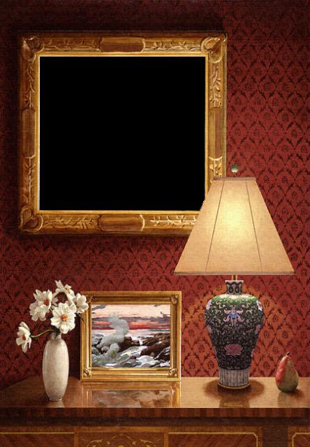 majestuoso marco de fotos de pared roja clásica - majestuoso marco de fotos de pared roja clásica