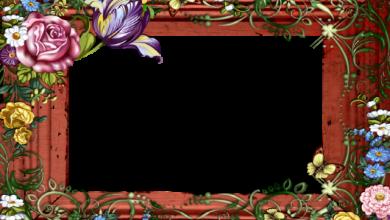 marco de fotos romantico de madera con flores de colores 390x220 - marco de fotos romántico de madera con flores de colores