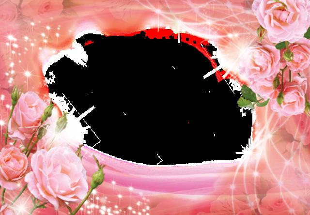 marco de fotos rosa con flores grandes - marco de fotos rosa con flores grandes