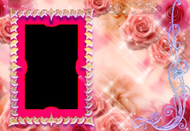 marco de fotos rosa marco brillante con pequenos corazones - marco de fotos rosa marco brillante con pequeños corazones