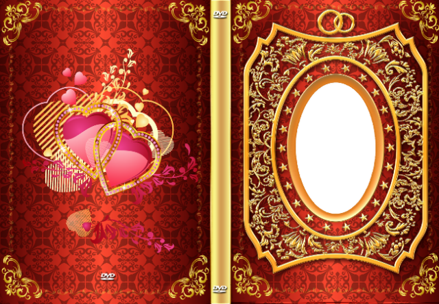 rojo con marco de fotos de escritorio dorado decorado - rojo con marco de fotos de escritorio dorado decorado