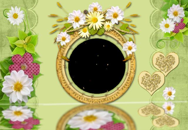 el romantico circulo dorado y el marco de fotos de rosas blancas - el romántico círculo dorado y el marco de fotos de rosas blancas