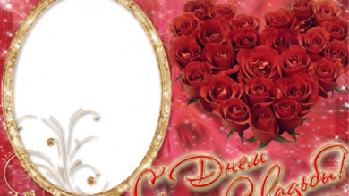 gran marco de fotos de corazon rojo con rosas 390x220 - gran marco de fotos de corazón rojo con rosas