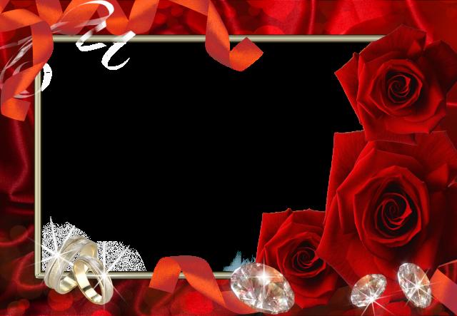 mi marco de fotos de boda con flores rojas - mi marco de fotos de boda con flores rojas