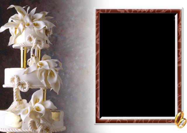 mi marco de fotos de pastel de bodas 1 - mi marco de fotos de pastel de bodas