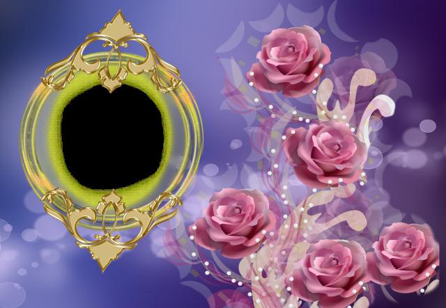 mi marco dorado romantico con rosa calida - mi marco dorado romántico con rosa cálida
