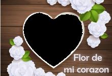 Photo of Flor de mi corazon marco de fotos romantico