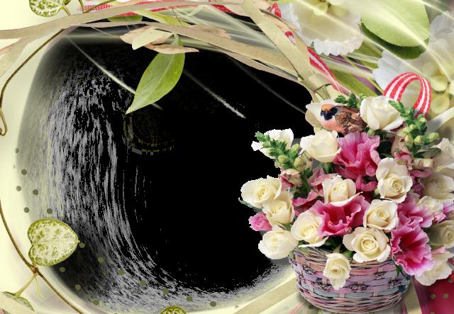 Flores del corazon marco de fotos romantico - Flores del corazon marco de fotos romantico