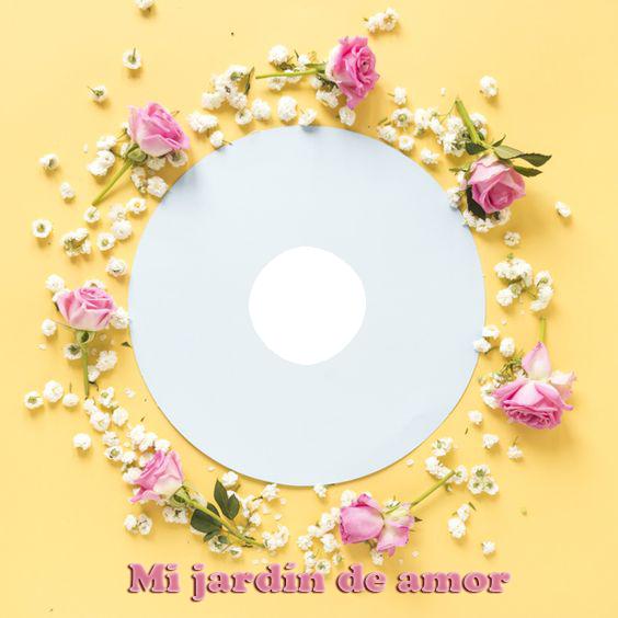 Mi jardin de amor marco de fotos romantico - Mi jardín de amor marco de fotos romantico