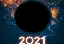 Photo of feliz año nuevo 2021 marco de fotos de fuegos artificiales