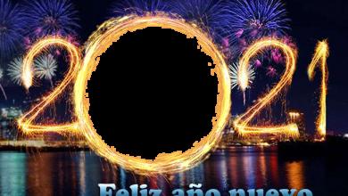 Photo of feliz año nuevo 2021 marco de fotos del circuito de incendios