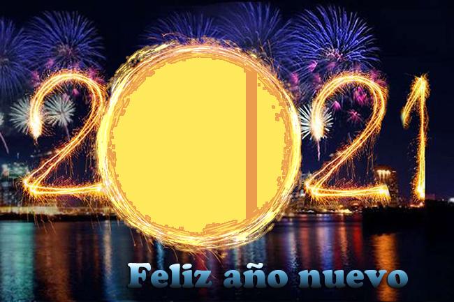 feliz ano nuevo 2021 marco de fotos del circuito de incendios - feliz año nuevo 2021 marco de fotos del circuito de incendios