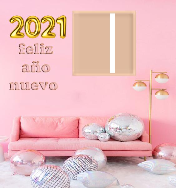 feliz ano nuevo 2021 marco de fotos moderno - feliz año nuevo 2021 marco de fotos moderno