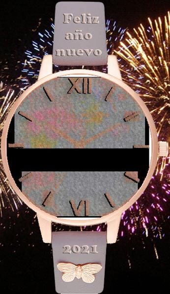 feliz ano nuevo 2021 reloj de pulsera marco de fotos - feliz año nuevo 2021 reloj de pulsera marco de fotos
