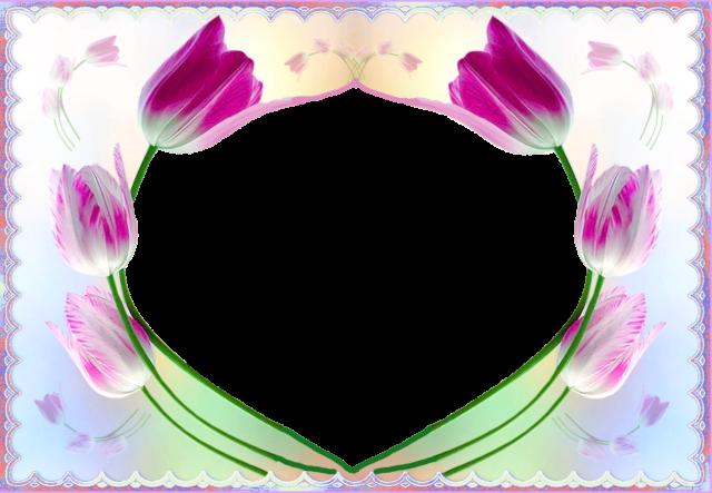 Marco de fotos circulo romantico de flores purpuras - Marco de fotos círculo romántico de flores púrpuras