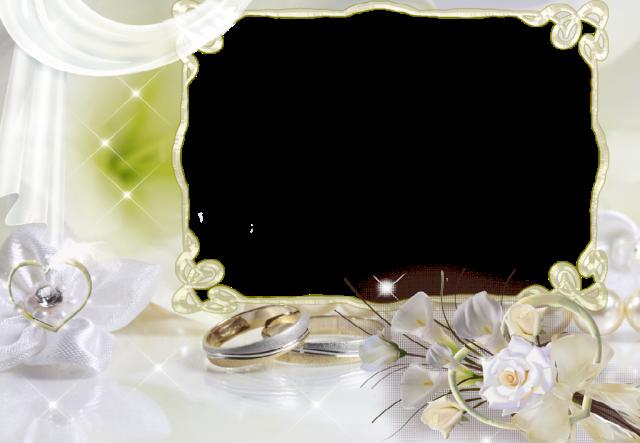 boda blanca con marco de fotos de 2 anillos - boda blanca con marco de fotos de 2 anillos